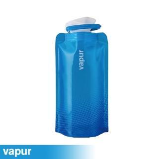 【美國Vapur】Shades 運動摺疊水袋 0.5L 藍 10195(運動水壺 摺疊水壺)