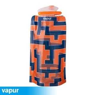 【美國Vapur】Shades 運動摺疊水袋 0.5L 迷宮 10207(運動水壺 摺疊水壺)