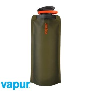 【美國Vapur】Eclipse 運動摺疊水袋 0.7L 橄欖 #10209(運動水壺 摺疊水壺)