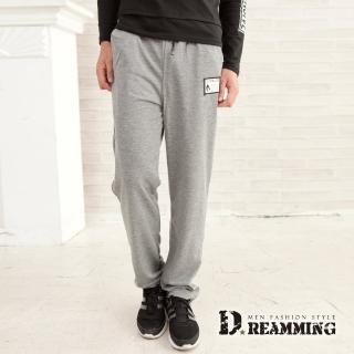 【Dreamming】韓風潮款布標休閒運動棉褲(共三色)