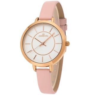 【JOSERINEA】甜美佳人皮革時尚腕錶(粉/33mm)