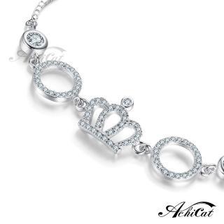 【AchiCat】925純銀手鍊 甜心公主 皇冠 HS6015