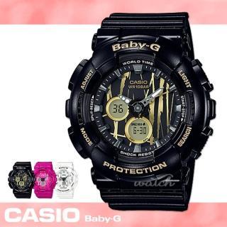 【CASIO卡西歐BABY-G系列】時尚精選_塗鴉錶盤設計_耐衝擊構造_防水_LED燈_女錶(BA-120SP)