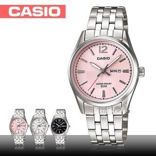 【CASIO 卡西歐】氣質女錶_日常生活防水_礦物玻璃__不鏽鋼錶帶_折疊式錶扣(LTP-1335D)