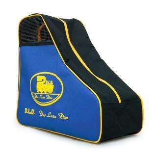 【D.L.D多輪多】專業直排輪 溜冰鞋 三角背包(黑藍黃)