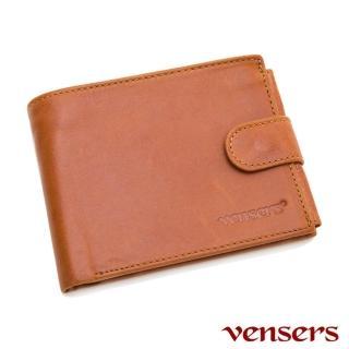 【vensers】vensers小牛皮潮流個性皮夾-NB0500101土黃短夾