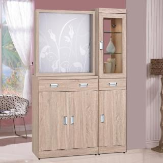 【時尚屋】韋弗利浮雕原橡木4尺屏風雙面櫃(G17-A191-1)