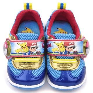 【童鞋城堡】神奇寶貝/寶可夢 中童 LED電燈運動鞋(PA7303-藍)