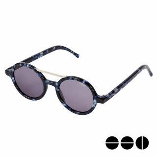 【KOMONO】CRAFTED工藝款手工太陽眼鏡 Vivien(迷幻靛藍)