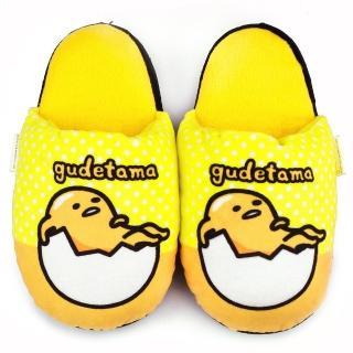 【童鞋城堡】蛋黃哥 懶洋洋保暖絨毛拖(GU0650-黃)