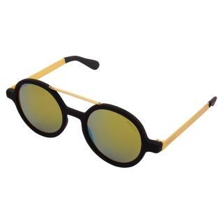 【KOMONO】太陽眼鏡 Vivien 薇薇安金屬系列(黑膠x金)