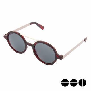 【KOMONO】太陽眼鏡 Vivien 薇薇安金屬系列(玫瑰琥珀x銀)