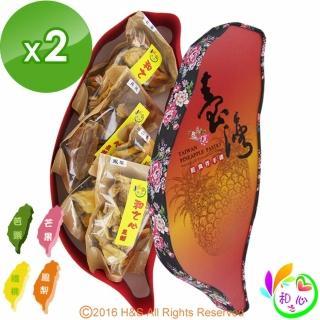 【和之心】精選綜合大寶島果乾禮盒2盒(芭樂/楊桃/芒果/鳳梨各150克)