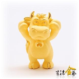 【生活金藝】卡通十二生肖-叮噹牛(金重1.20錢)