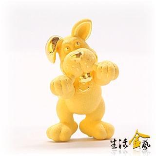 【生活金藝】卡通十二生肖-快樂狗(金重1.20錢)