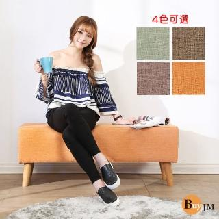 【BuyJM】亞麻長方沙發椅凳/床尾椅/4色(寬109公分)