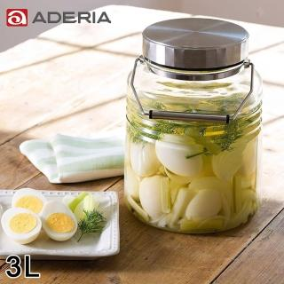 【ADERIA】日本進口時尚玻璃梅酒瓶(3L)