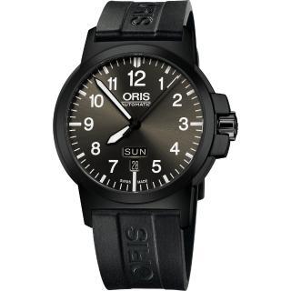 【ORIS】BC3 Advanced 日曆星期機械腕錶-鐵灰x黑/42mm(0173576414733-0742205B)
