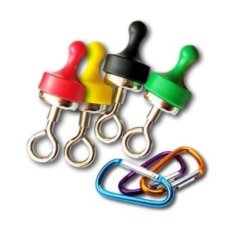 露營界的超強幫手-強力磁鐵掛勾+贈D型扣