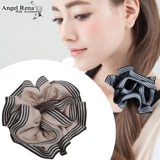 【Angel Rena】百摺年輪滾邊大腸圈髮束(嫩粉)