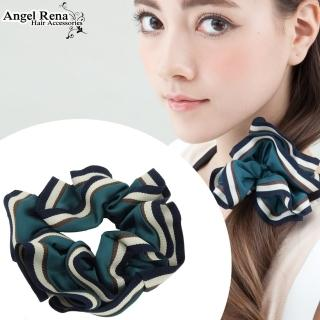 【Angel Rena】百摺滾邊大腸圈髮束(深青色)