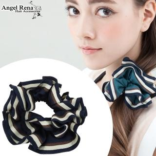 【Angel Rena】百摺滾邊大腸圈髮束(深藍色)