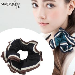 【Angel Rena】百摺滾邊大腸圈髮束(黑色)