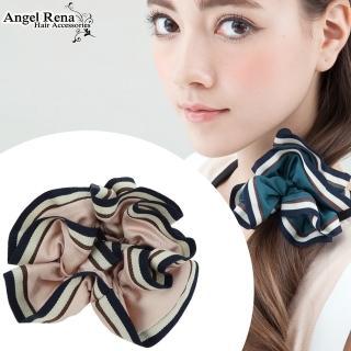 【Angel Rena】百摺滾邊大腸圈髮束(嫩粉色)