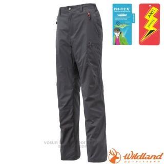 【荒野 WildLand】女款 防潑水防風保暖長褲.透氣機能長褲.運動長褲.立體修身長褲(0A12325 深灰)