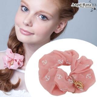 【Angel Rena】雪紡印花海錨髮束(粉紅)