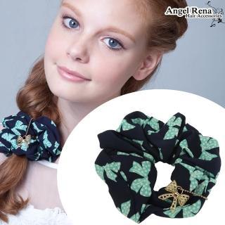 【Angel Rena】點點蝴蝶結垂墜大腸圈髮束(藍綠)