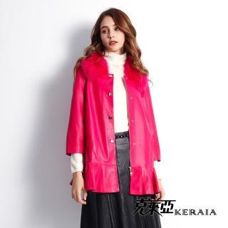 【克萊亞KERAIA】純羊皮浪漫荷葉外套
