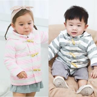 【baby童衣】鋪棉保暖牛角扣 連帽外套 50498(共2色)