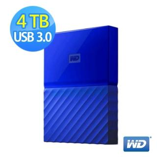 【WD】My Passport 4TB 2.5吋行動硬碟/WESN(藍)