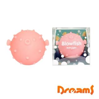 【Dreams】元氣河豚LED泡澡氣氛燈 櫻花粉