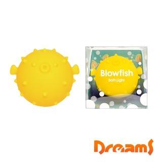 【Dreams】元氣河豚LED泡澡氣氛燈 檸檬黃