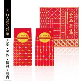【金品茶集】巷弄台灣二入小紅禮盒(高山烏龍茶+貴妃美人茶)