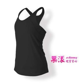 【HODARLA】女果漾背心-無袖上衣 慢跑 路跑 瑜珈 運動 休閒(黑)