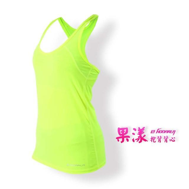 【HODARLA】女果漾背心-無袖上衣 慢跑 路跑 瑜珈 運動 休閒(螢光黃)