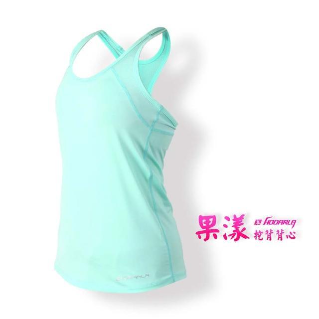 【HODARLA】女果漾背心-無袖上衣 慢跑 路跑 瑜珈 運動 休閒(粉綠)