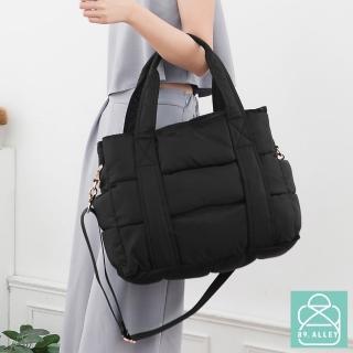 【89.Alley】空氣包 側背包 防潑水兩用大容量媽媽包(黑色)