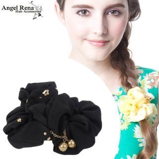【Angel Rena】雙層印花珠鍊垂墜髮束(黑色)