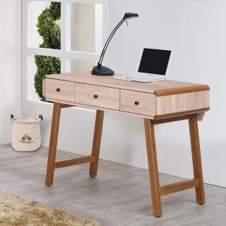 【時尚屋】柏克3.5尺三抽書桌(G17-A223-3)