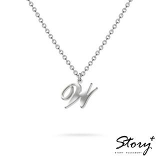 【STORY ACCESSORY】字母系列-字母W 純銀項鍊