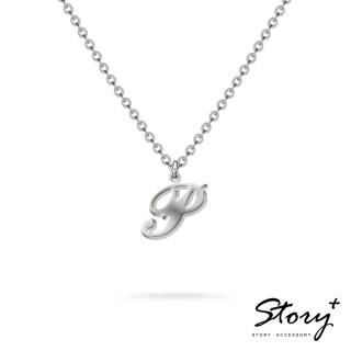 【STORY ACCESSORY】字母系列-字母P 純銀項鍊
