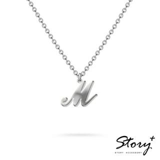 【STORY ACCESSORY】字母系列-字母M 純銀項鍊