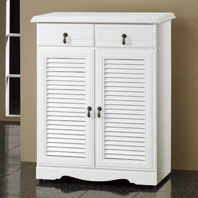 【時尚屋】Versailles烤白3尺鞋櫃5U6-236-201(烤白 古典 免運費)
