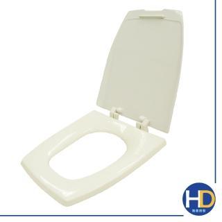 【雙手萬能】通用型單體方形馬桶蓋(牙色)