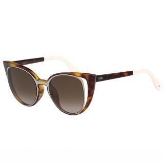 【FENDI】-時尚造型太陽眼鏡FF0136S(琥珀色)