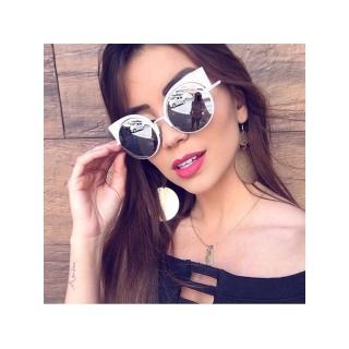 【FENDI】-廣告主打 水銀鏡面 太陽眼鏡FF0177S(白色)
